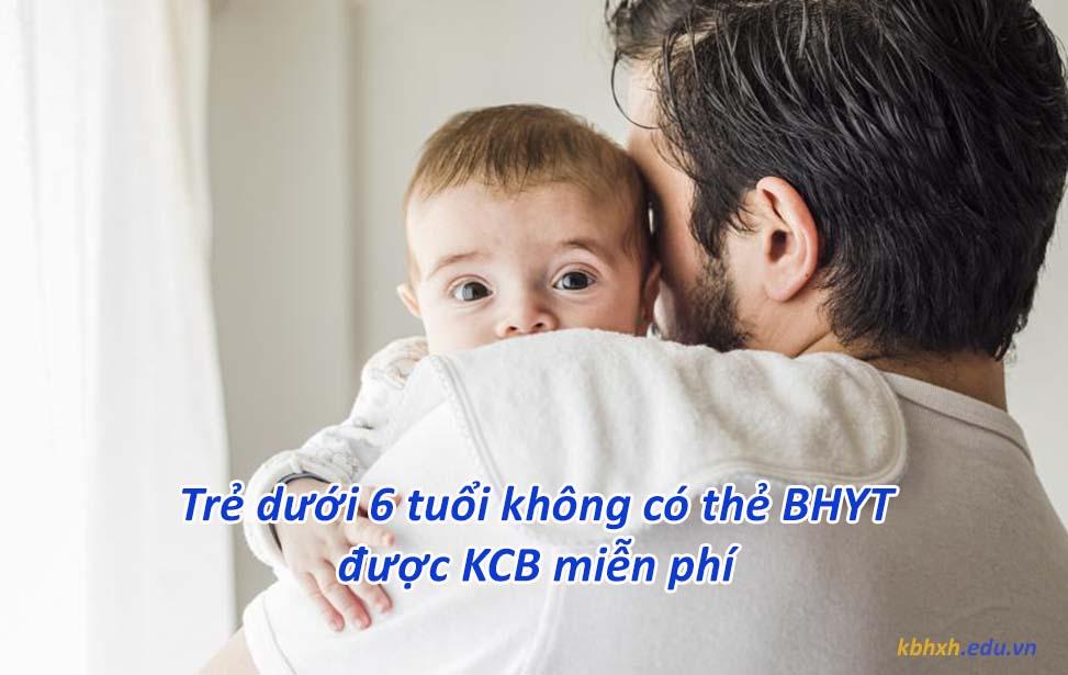 Miễn phí khám chữa bệnh BHYT cho trẻ dưới 6 tuổi